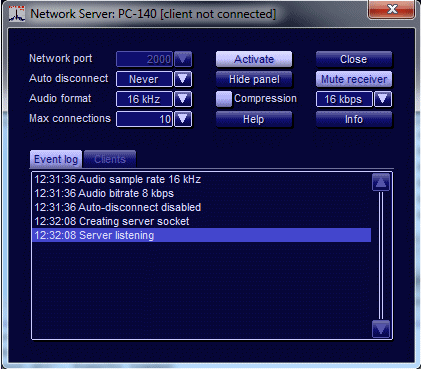G33DDC Client/Server Option - Server Operation
