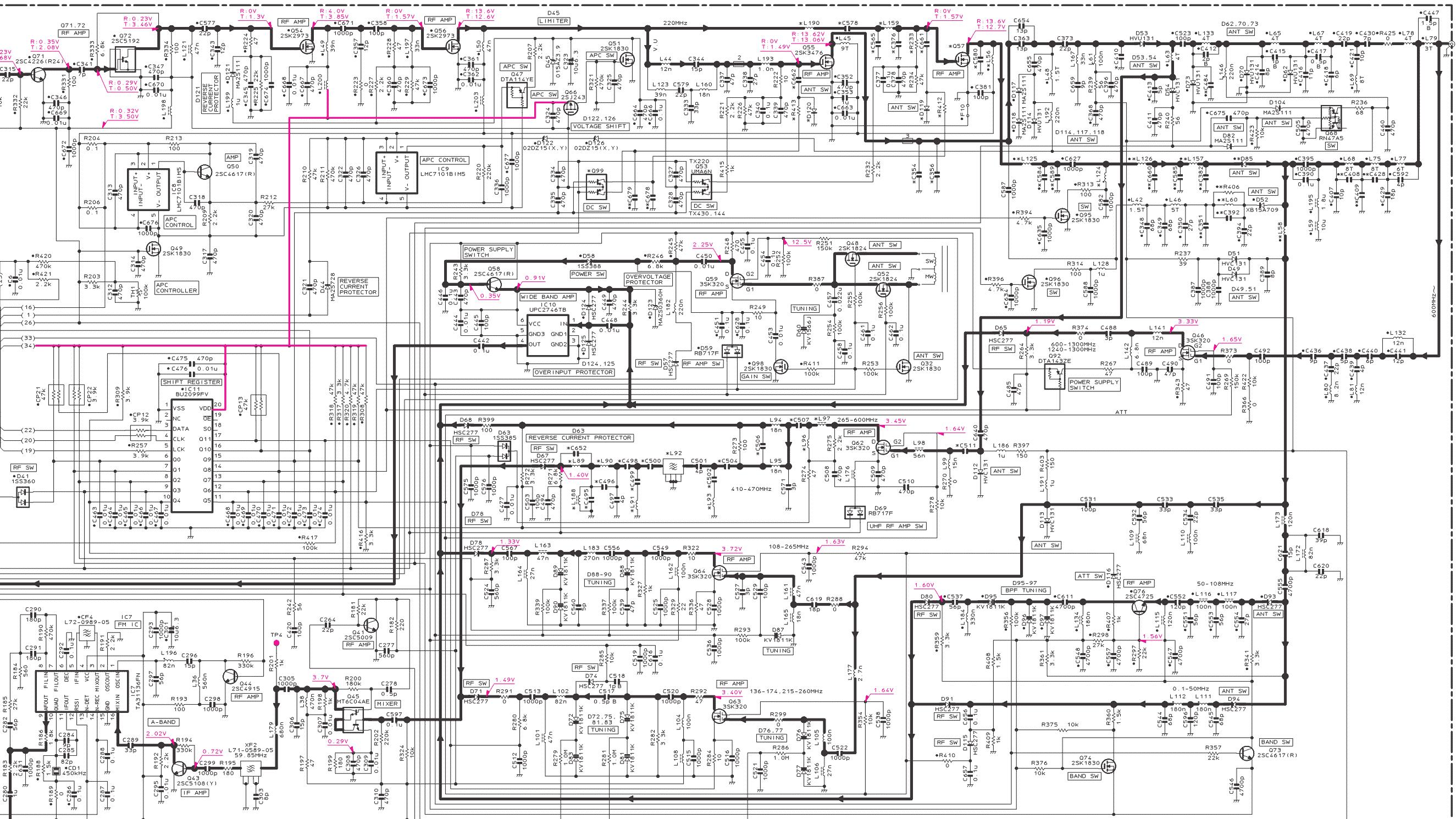 Принципиальная электрическая схема радиостанции р-169 п1-01