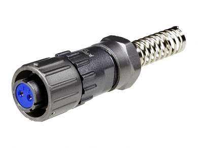 """FQ14-2TK-8 гнездо 2-pin на кабель   купить, цена 265 руб. в интернет магазине """"РадиоЭксперт"""""""